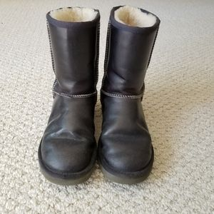 UGG leather waterproof winter boots